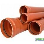 Труба каналізаційна зовнішня ПВХ Valrom 3.9мм 200х1м