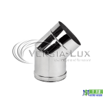 Коліно одностінне Versia Lux 45, 0,6мм Д180
