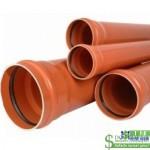 Труба каналізаційна зовнішня ПВХ Valrom 2.2 мм 110х1м