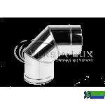 Коліно одностінне Versia Lux 90, 1мм Д120