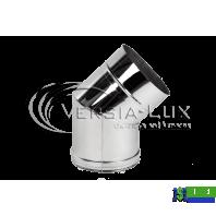 Коліно одностінне Versia Lux 45, 0,8мм Д150