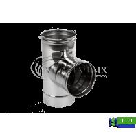 Трійник одностінний Versia Lux 90, 1мм Д150