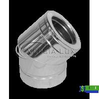 Коліно нержавійка в нержавійці Versia Lux 45, н/н, 1мм Д160/220