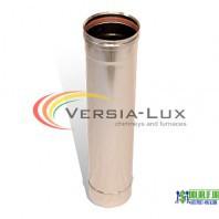 Труба з нержавійки одностінна Versia Lux L=1,0 м, 0,6мм Д100