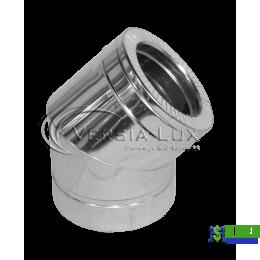 Коліно нержавійка в нержавійці Versia Lux 45, н/н, 0,8мм Д150/220