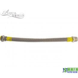 Шланг для газу нержавіючий Aqua-world рВ-рЗ 60см 1/2 (15)