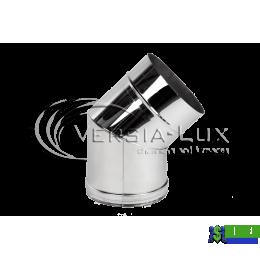Коліно одностінне Versia Lux 45, 1мм Д180