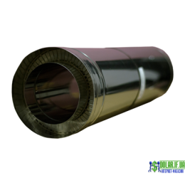 Труба нержавійка в оцинковці Versia Lux L=0,5м н/оц 1мм Д150/220