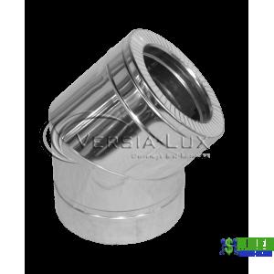 Коліно нержавійка в нержавійці Versia Lux 45, н/н, 0,8мм Д160/220