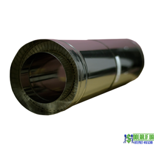 Труба нержавійка в оцинковці Versia Lux L=0,5м н/оц 0,8мм Д180/250