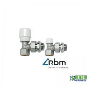 Комплект радіаторних кранів RBM кутовий (Кран Регуляційний + Відсікаючий)