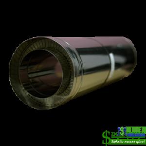 Труба нержавійка в оцинковці Versia Lux L=1м н/оц 0,8мм Д220/280