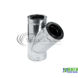 Трійник нержавійка в оцинковці Versia Lux 45, н/оц, 1мм Д120/180