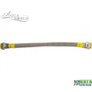 Шланг для газу нержавіючий Aqua-world рВ-рВ 60см 3/4 (20)
