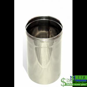Труба з нержавійки одностінна Versia Lux L=0,5 м, 0,6мм Д100