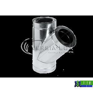 Трійник нержавійка в оцинковці Versia Lux 45, н/оц, 1мм Д200/260