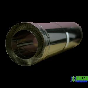 Труба нержавійка в оцинковці Versia Lux L=1м н/оц 0,8мм Д200/260