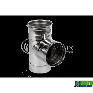 Трійник одностінний Versia Lux 90, 0,6мм Д120