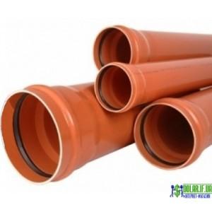 Труба каналізаційна зовнішня ПВХ Valrom 4.9мм 250х2м