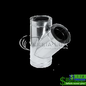 Трійник нержавійка в оцинковці Versia Lux 45, н/оц, 0,6мм Д220/280