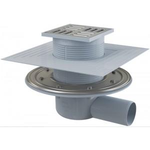 Трап ALCA PLAST APV1324 105x105/50мм з пліч. підвід. Пластик