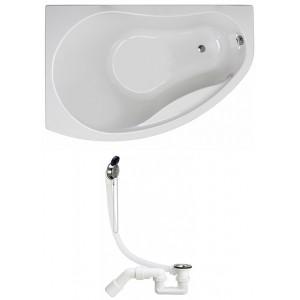 Ванна акрилова KOLO Promise 170х110 лівобічна   ніжки SN8   сифон VIEGA Simplex 311537 (XWA3271000   311537)