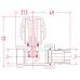 Кран радіаторний прямий хром 1/2 Icma №1117 (821117AD07)